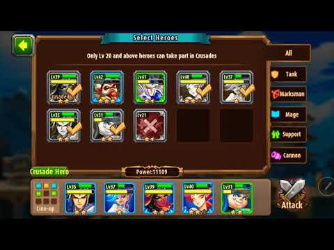 Magic rush heros island crusade level 8