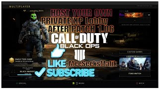 COD:BO4 Private/XP Lobby How To Host Private Lobby In Blackout