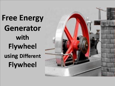 free energy generator with flywheel - using different Flywheel