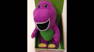 Barney Plush toy singing I Love You