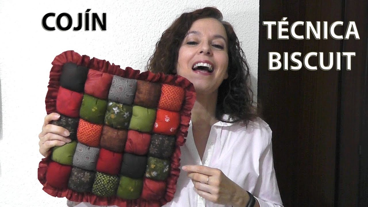Tutorial De Cojines De Patchwork.Technique Biscuit Patchwork Pillow