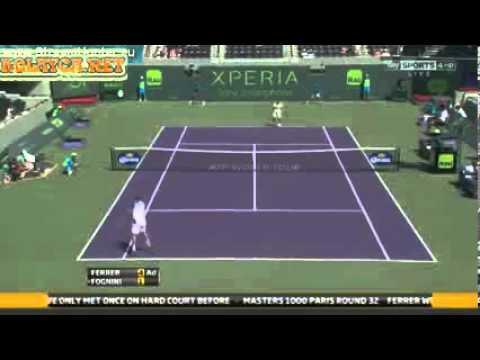 David Ferrer vs Fabio Fognini ATP Miami 2013 Sony Open Tennis - 24-03-2013
