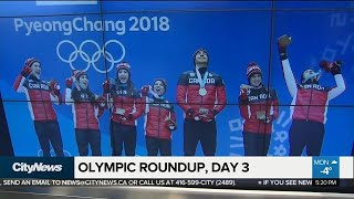 Highlights of day 3 of the Winter Olympics