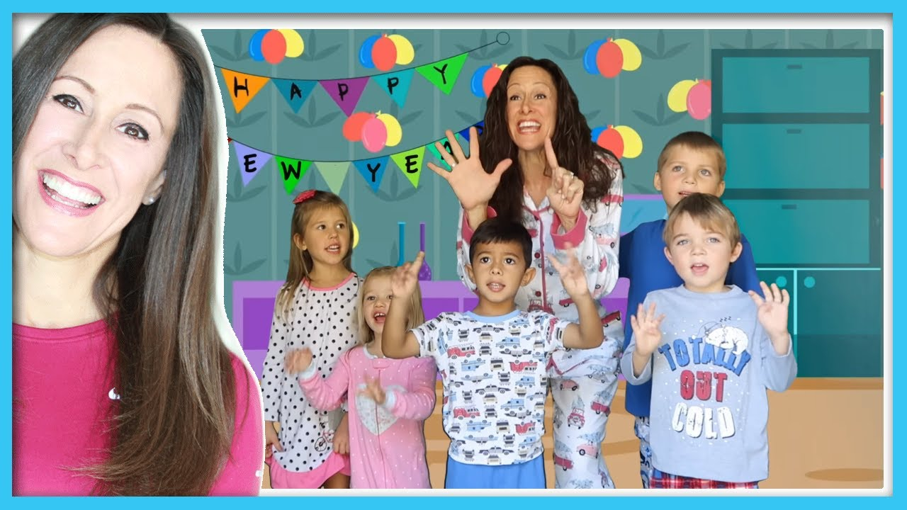 New Year's Eve Countdown Video for Children   10 minute ...