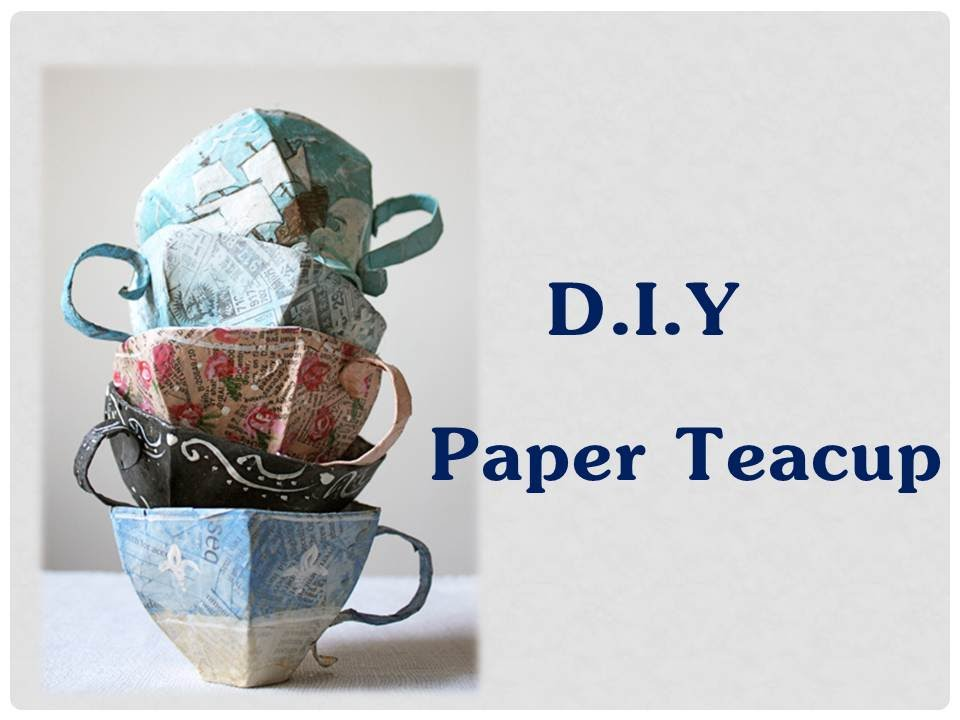 DIY - Origami Tea Cup / Cup and Saucer (Very Easy)