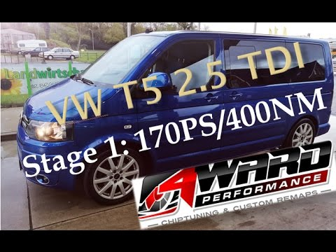 4ward performance chiptuning vw t5 2 5 tdi stage 1 youtube. Black Bedroom Furniture Sets. Home Design Ideas