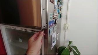 Хладилник Liebherr - разглобяване и регулиране на вратата
