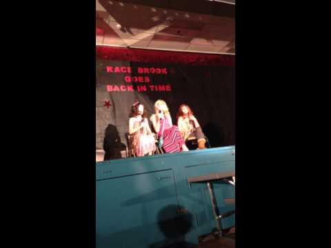 Race Brook school Talent show girls doing EW!
