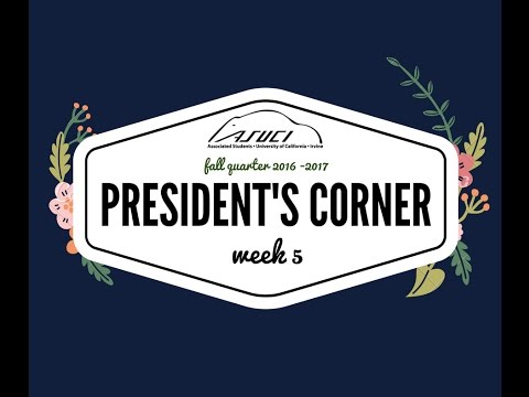 President's Corner (2016-2017) Episode 2: Voter Reg, Committees, Council of Presidents, and more!