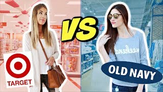 Target VS Old Navy $50 Clothing Challenge | Try-On Haul