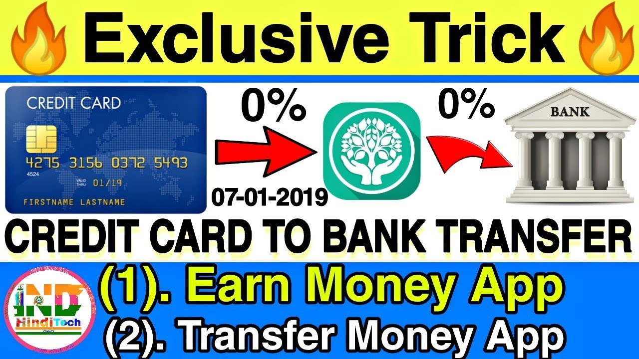 Transfer Money Credit Card To Bank