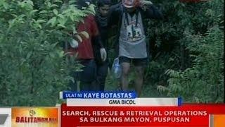 BT: Search, rescue & retrieval ops sa Bulkang Mayon, puspusan