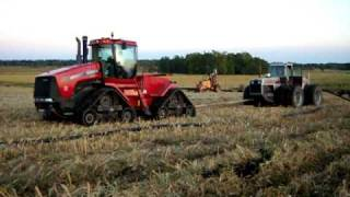 vid 1 case ih quadtrac 530 white 4 270 pulling tiling trencher over 800 hp combined