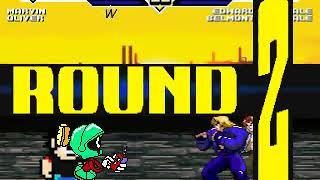 Marvin (me) and Oliver vs Edward and Belmont MUGEN BATTLE