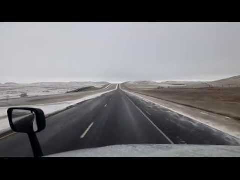 BigRigTravels LIVE! Beach, North Dakota to...Interstate 94 East-Nov. 4, 2017