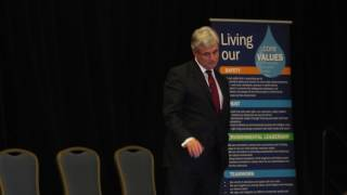 Rob Andrews, CEO of the Health Transformation Alliance, speaks at American Water