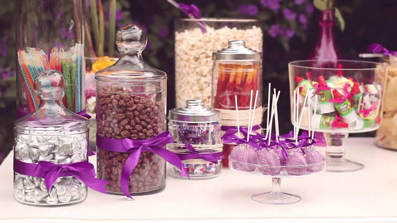Mesa de botanas y dulces youtube - Mesa de dulces para boda ...