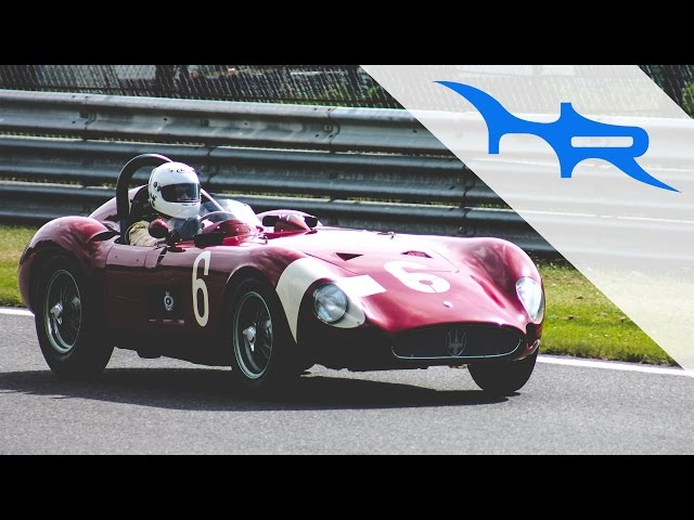 RARE 1957 Maserati 300S at Spa (Beautiful Sound)