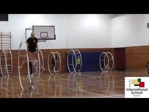 Junior World Champion 2015 in Gym Wheel Kira Homeyer at the German International School Sydney