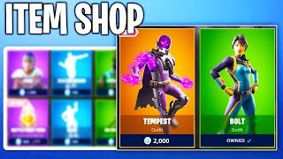 NEW BOLT AND TEMPEST SKIN! Fortnite NEW Item Shop! Daily & Featured Items!