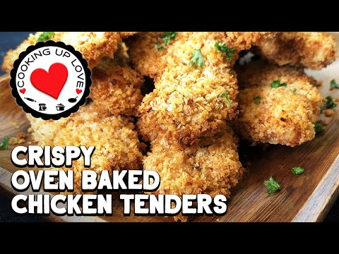 Crispy Panko Chicken Tenders | Baked Chicken Tenders Healthy Recipe | Cooking Up Love