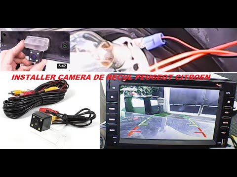 installer camera de recul peugeot citroen et pour autres vehicules youtube. Black Bedroom Furniture Sets. Home Design Ideas