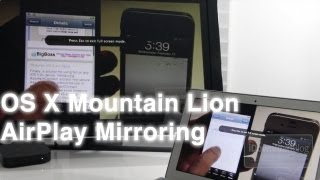 OS X Mountain Lion AirPlay Mirroring How To and Hands On