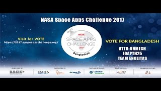VOTE for Bangladesh  NASA Space Apps Challenge 2017