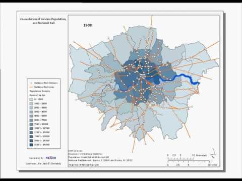 Evolution of the London National Rail Network 1801-2008