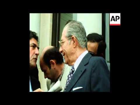 SYND 8 7 75 TUNISIAN PRIME MINISTER, HEDI NOUIRA IN PARIS