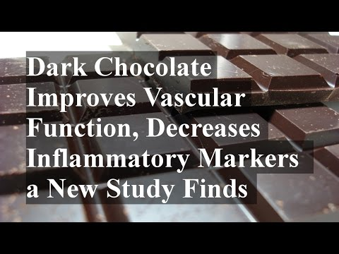 Dark Chocolate Improves Vascular Function, Decreases Inflammatory Markers a New Study Finds