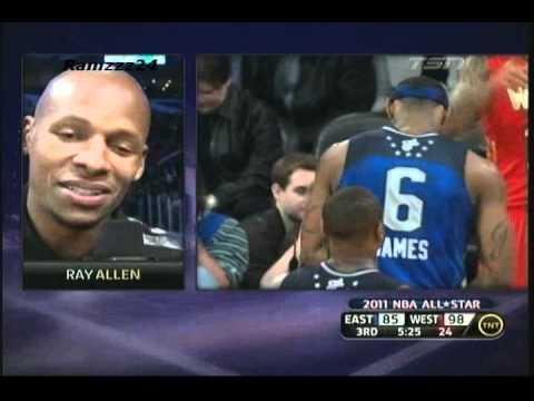 Ray Allen Highlights NBA Allstar Game 2011 *Tough Fade Away Three