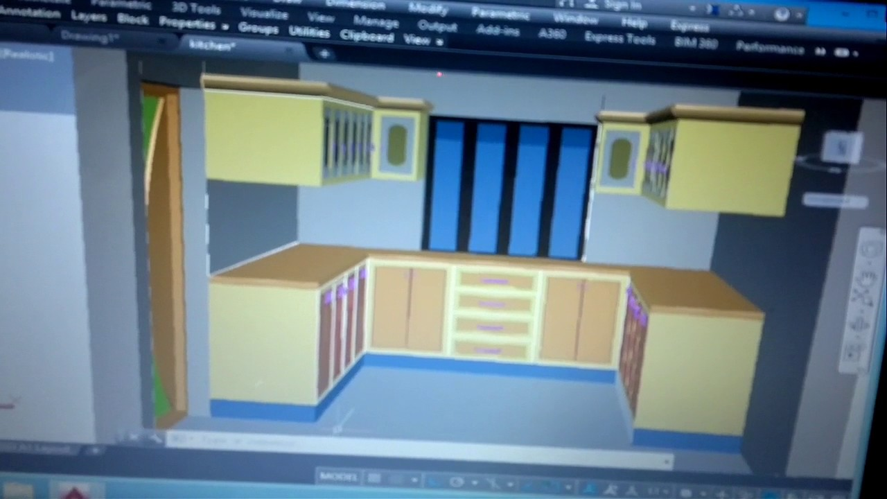 AutoCAD perspective view YouTube