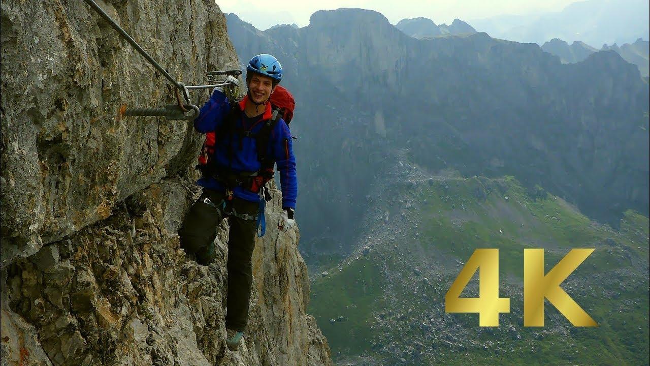 Klettersteig Sulzfluh : Sulzfluh klettersteig die m wand youtube
