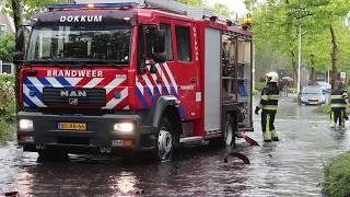 16-09-2017 Extreme wateroverlast in Dokkum
