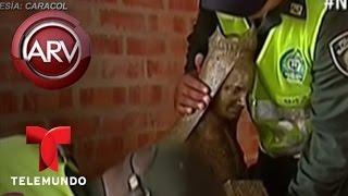 Graban a sujeto robando la estatua de una Virgen en Cartagena, Colombia | Al Rojo Vivo | Telemundo