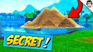 NEW *SECRET* LOOT LAKE PYRAMID HAS APPEARED In Fortnite! Fortnite Season 5 Pyramid Under Loot Lake!