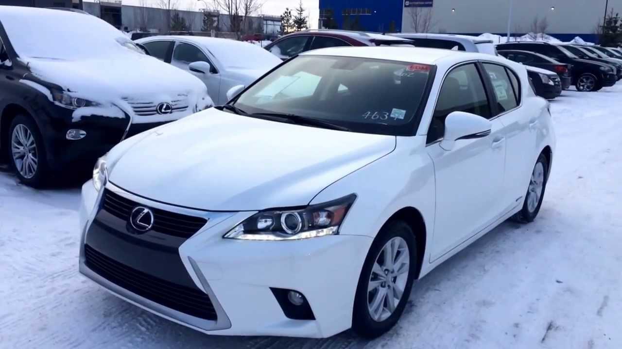 2017 White Lexus Ct200h Hybrid Review Alberta