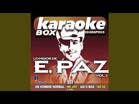 Un Hombre Normal (Karaoke Version)