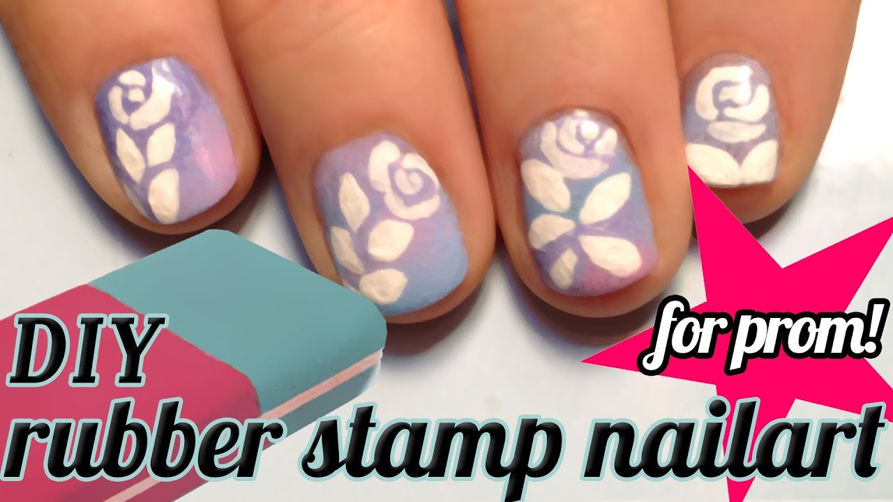 Tutorial Diy Stamps For Nailart How To Make A Rose Prom Nail Art