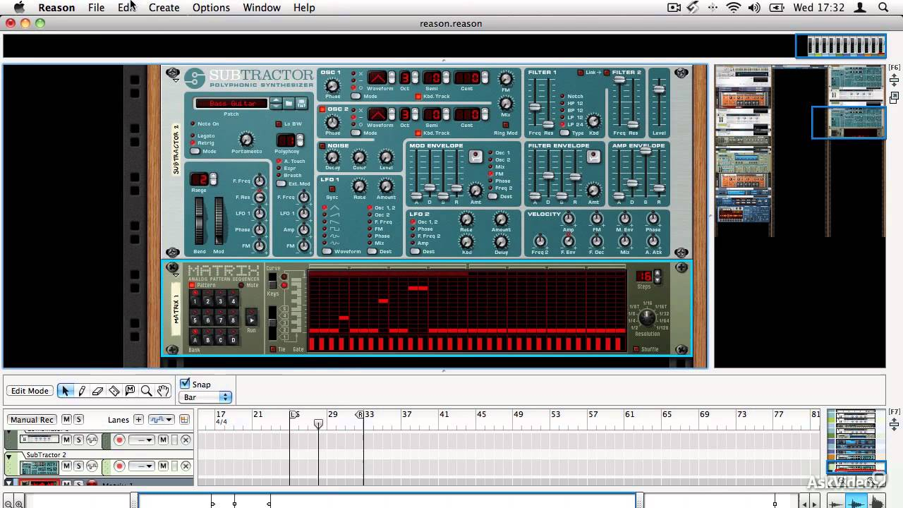 Reason 7 103: Working With MIDI - 19  The Matrix Pattern Sequencer