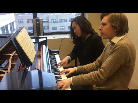 CMS of Lincoln Center pianists Juho Pohjonen & Wu Qian rehearse the Schubert Fantasie