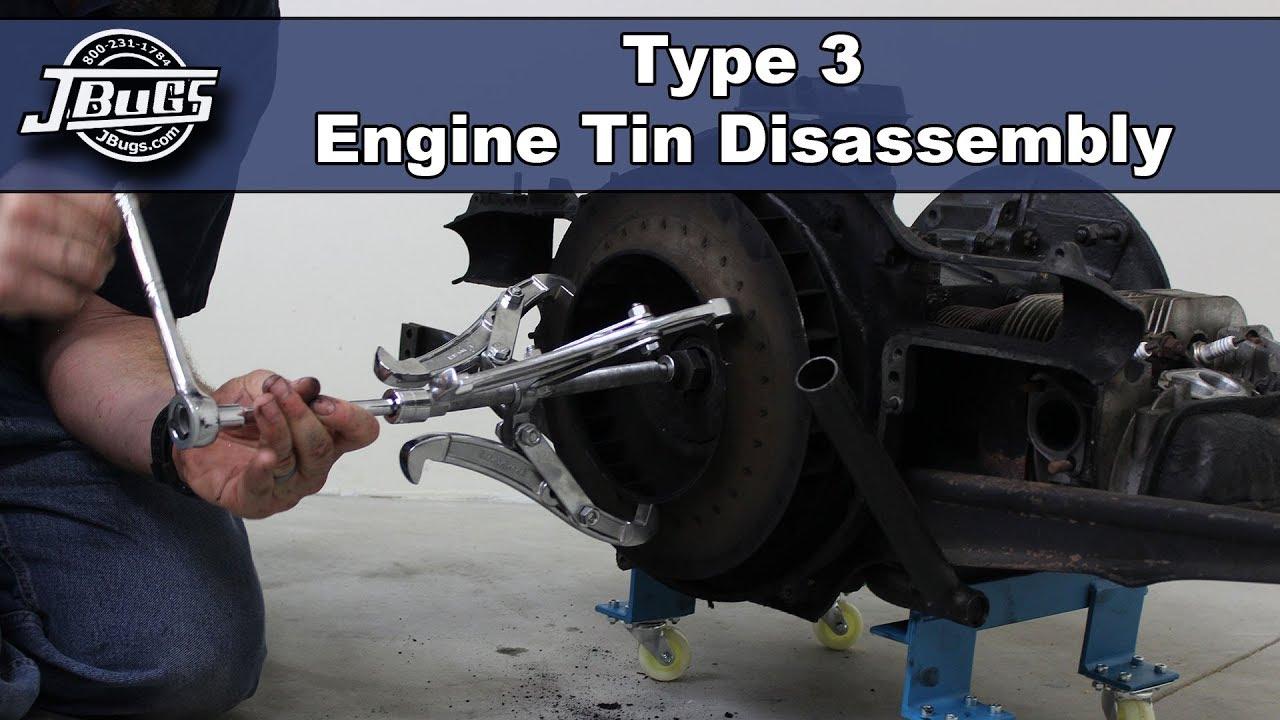 JBugs - VW Type 3 - Engine Tin Disassembly