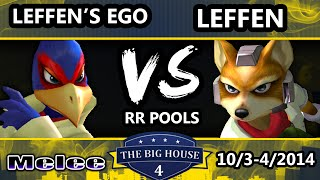 The Big House 4 - Leffen (Fox) Vs. Leffen's Ego (Falco) - Pools Round 1 - SSBM