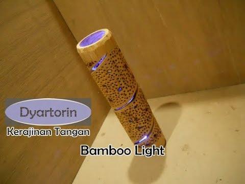cara mudah membuat hiasan lampu unik minimalis dari bambu