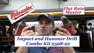 Milwaukee Impact and Hammer Drill Combo Kit 2598-22