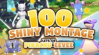 100 EPIC SHINY MONTAGE! Pokemon Let's GO Pikachu and Eevee Epic Shiny Reactions and Funny Moments!