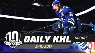 Daily KHL Update - November 2nd, 2017 (English)