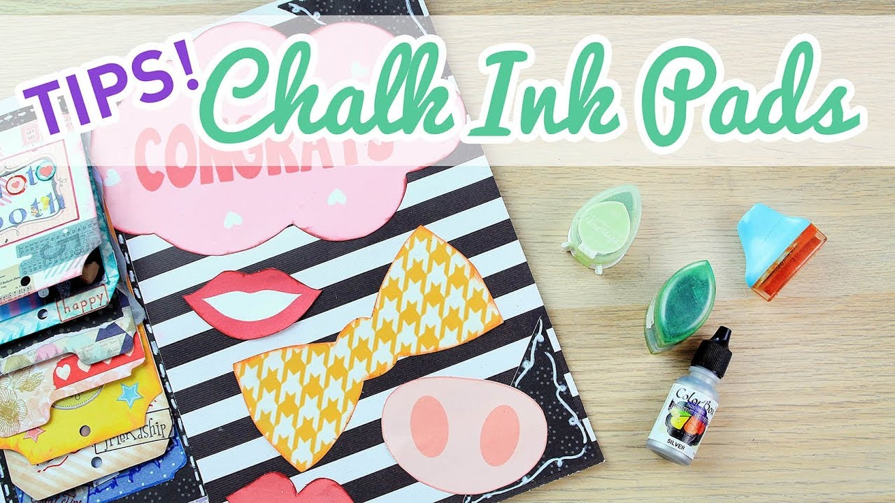Scrapbooking Tips How To Use Loose Chalk Ink Pads And A Cheaper