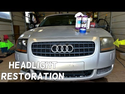 HOW TO MAKE HEADLIGHTS CLEAR LIKE NEW DEMONSTRATED ON AUDI